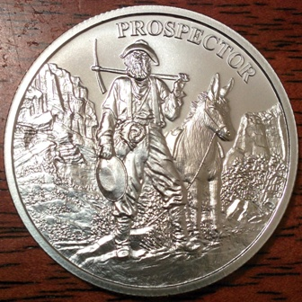 For Sale Provident Quot Prospector Quot 1 Oz Silver Rounds 10 Avail