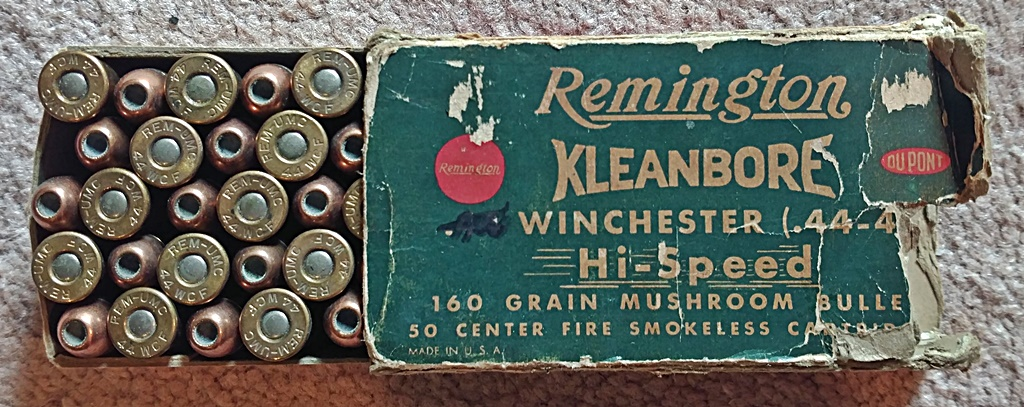 Vintage lever-rifle ammo: Remington 44-40 with 160 gr ...